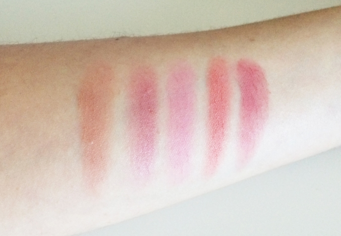 Blush Palette swatches